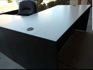 3-pc custom made office desk! Beautiful executive desk for Sale in Las Vegas, NV