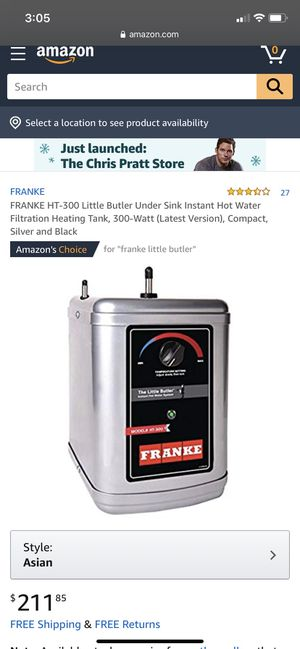 Franke Little Butler for Sale in Beverly, MA