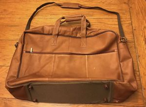 Genuine Leather Made in Colombia South America Soft Suit Case, Weekender, Garment Bag Business Chic! Some Signs of use, marks...Please see Photos! for Sale in Schnecksville, PA