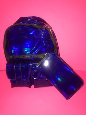 Royal blue backpack with wallet $40 NEW for Sale in Columbus, OH