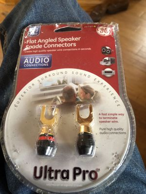 Flat angled speaker spade connectors for Sale in Houston, TX