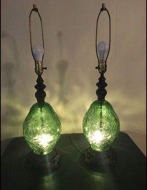 Matching Mid-Century Lamps 3 Way Lights with Nightlights for Sale in Winston-Salem, NC