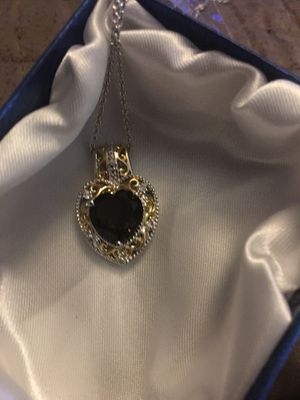 Smoky quartz necklace with stainless steel chain for Sale in West Richland, WA