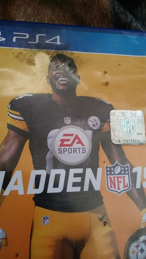 Ps4 madden 19 for Sale in CA, US