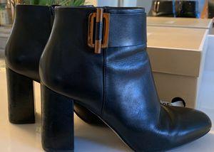 MICHAEL MICHAEL KORS WOMEN'S LEATHER ANKLE BOOTIES GLORIA BLACK 8M (38.5) for Sale in Las Vegas, NV