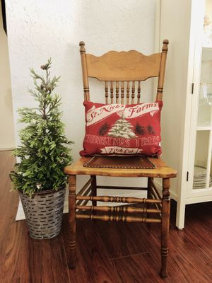 FARMHOUSE Antique Wood Chair Leather Studs for Sale in Coral Springs, FL