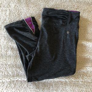 Size L Heather Gray / Purple Capri Workout Pants for Sale in Newport News, VA