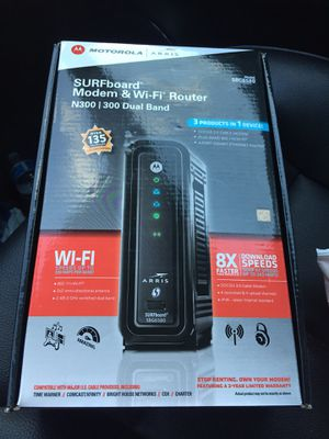 ARRIS SBG6580 Modem And WiFi router for Sale in Haymarket, VA