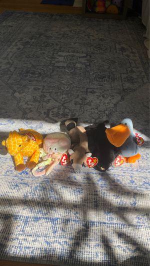 Beanie babies scoop, goochy, velvet, twigs, Ringo for Sale in Orlando, FL