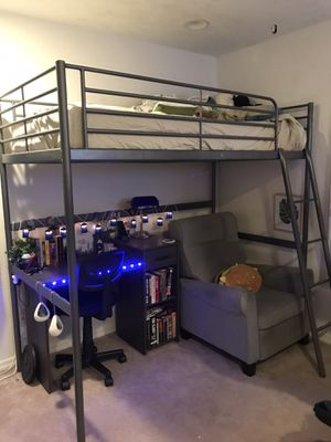 Twin loft bed metal frame for Sale in Madeira Beach, FL