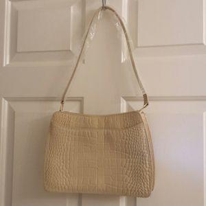 Susan Lucci Cream Leather Handbag for Sale in West Palm Beach, FL
