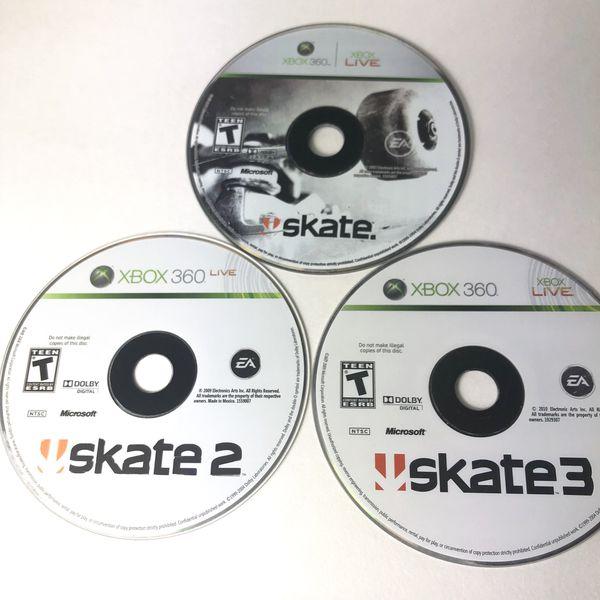 Xbox 360 Skate 1, 2 & 3 Work Perfectly