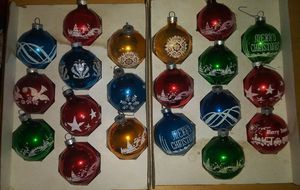 Glass christmas balls for Sale in Wichita, KS