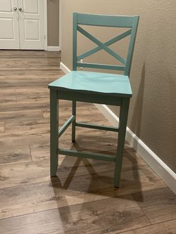 Wood Counter Stools - Soft Aqua for Sale in Clovis,  CA