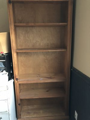All wood bookcase for Sale in Third Lake, IL