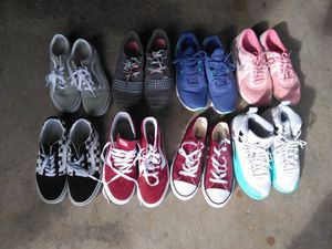 Womans&or Girls size 4.5 Shoes Vans Coverse and Jordans for Sale in Federal Way, WA