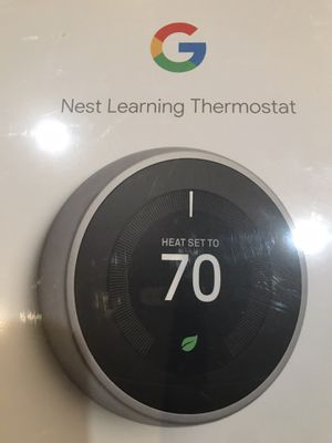 Nest thermostat 3rd generation-T3007ES-STAINLESS STEEL for Sale in Anaheim, CA