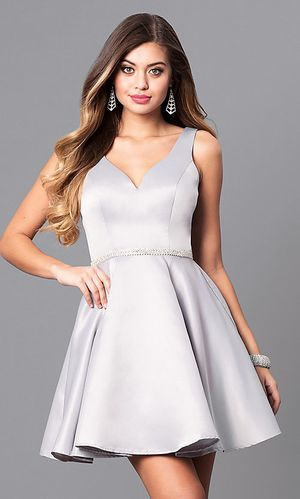 Prom girl short circle skirt v neck homecoming party dress for Sale in Brooklyn, NY