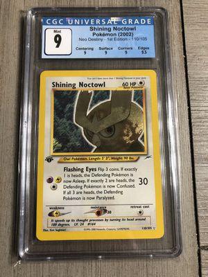 Pokémon 1st Edition Shining Noctowl CGC 9 for Sale in Redmond, WA