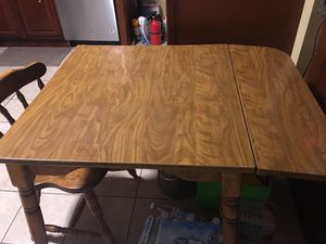 Small table with extension and 1 chair for Sale in Philadelphia, PA