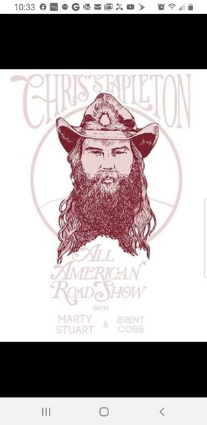 "Chris Stapleton ""Small Batch"" Experience VIP Pit tickets Oct 18 Virginia Beach only 1 ticket left for Sale in Hampton, VA"
