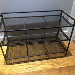 3 tier dark brown metal frame shoe rack for Sale in New York, NY