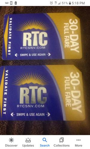 Rtc bus pass 30 day pass for Sale in Las Vegas, NV