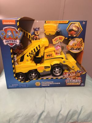 Nickelodeon Paw Patrol Ultimate Construction Truck for Sale in Travelers Rest, SC