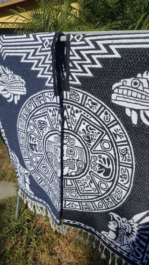 Aztec calendar poncho gaban thick like a blanket for Sale in Long Beach, CA
