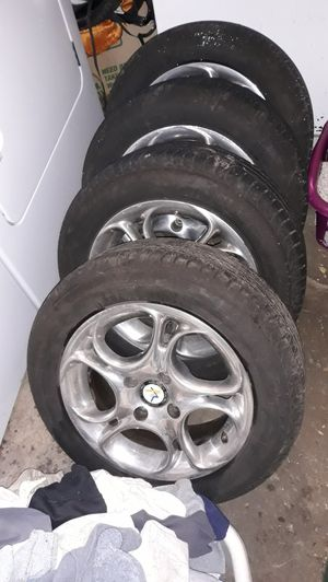 set of 4 American Racing Rims w/Brand new tires $200 obo for Sale in Tacoma, WA
