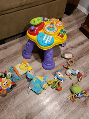 Baby activity table & toys for Sale in Red Oak, TX