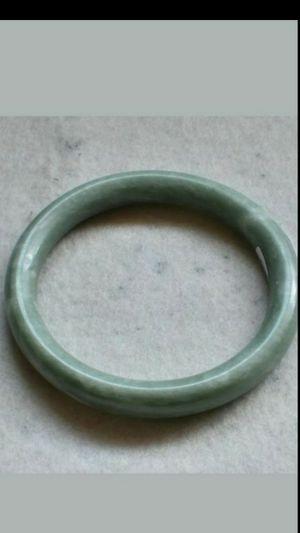 59.04mm Certified Natural Jade Handmade Bracelet Bangle for Sale in Richmond, CA