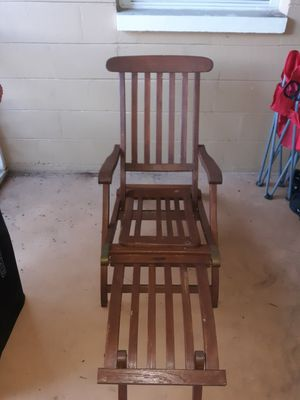 1930's Antique teak lounge chair from Ss New Amsterdam for Sale in Gulfport, FL