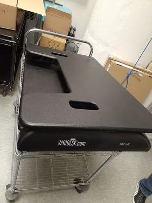 VARIDESK 49884 Height Adjustable Standing Desk & Slip Proof Mat- Black for Sale in Philadelphia, PA
