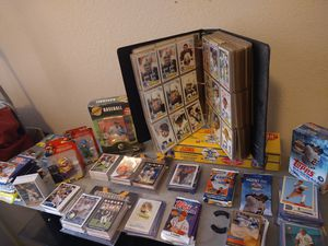 $400.00 value topps baseball and football cards never opened and are collectors items! Topps card packs I never opened. for Sale in Raleigh, NC