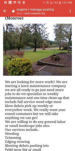 Clean Cutt Lawn maintenance and landscape for Sale in Monroe, OR