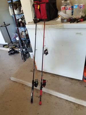 Fishing reel and rod.good. conditions. Have some New.$75 each for Sale in Glendale, AZ