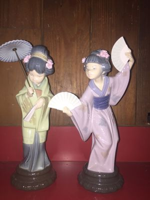 Llardo Figurines Madame Butterfly And Oriental Spring for Sale in Bellville, OH