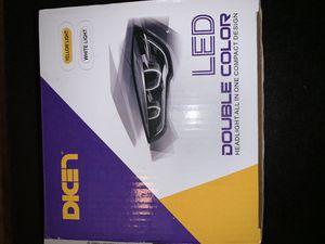 h4 led dual color headlight bulbs for Sale in Murrieta, CA