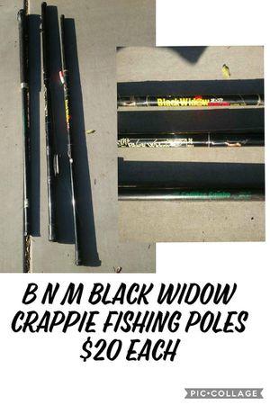 B N M BLACK WIDOW CRAPPIE FISHING POLES*EXTENDS* $20 EACH* for Sale in Surprise, AZ