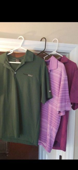 3 MEDIUM DRI FIT GOLF SHIRTS (VERY NICE) for Sale in Delray Beach, FL