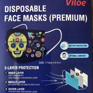 Ten-packs Of Skull Dia De Muertos Masks for Sale in Rio Vista, CA