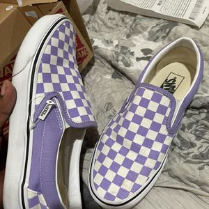 White/Purple Checkered Vans for Sale in Visalia, CA