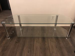 New Glass and Chrome TV Stand for Sale in Seattle, WA