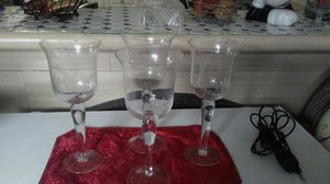 4 crystal candle holders 4x 10$ for Sale in Miami, FL