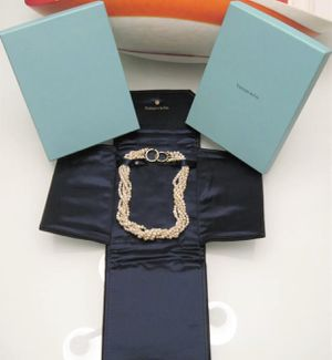 """18k Yellow Gold Tiffany & Co. Paloma Picasso 5 Strand Pearl 16.5"""" Necklace for Sale in Tampa, FL"""