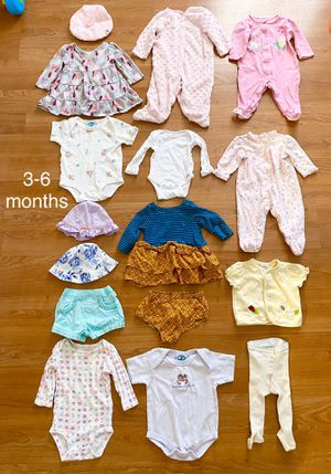 Lot of baby girl clothes, size 3-6 months and 6 months, Tommy Hilfiger outfit, kids clothes, shorts, hats, tops, onesies for Sale in Surprise, AZ