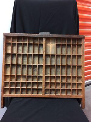 Antique printer's Tray for Sale in Dallas, TX