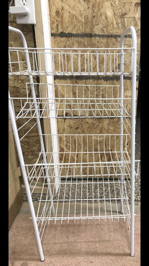 4 tier plastic coated wired basket rack for Sale in North Olmsted, OH