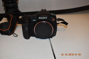 Sony α (alpha) DSLR-A200 camera for Sale in Houston, TX